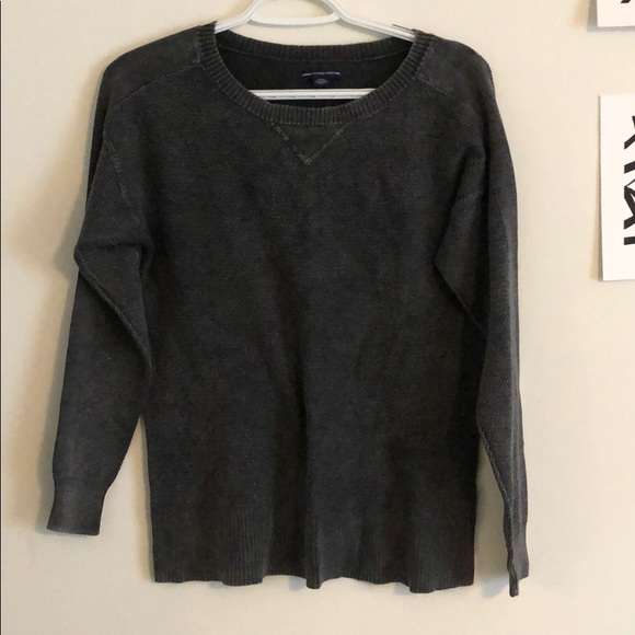 American Eagle Outfitters Tops - Gray American Eagle Crewneck Sweater (S)